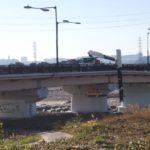 通行止めの日野橋・開放は梅雨前との発表